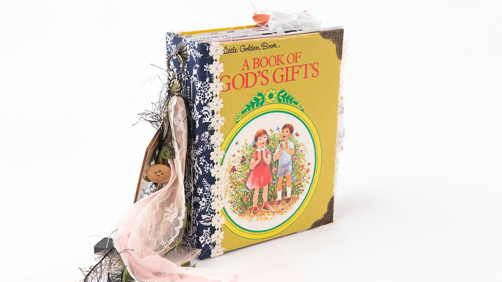 A Book of God's gifts -  Little Golden Book Junk Journal {LARGE}