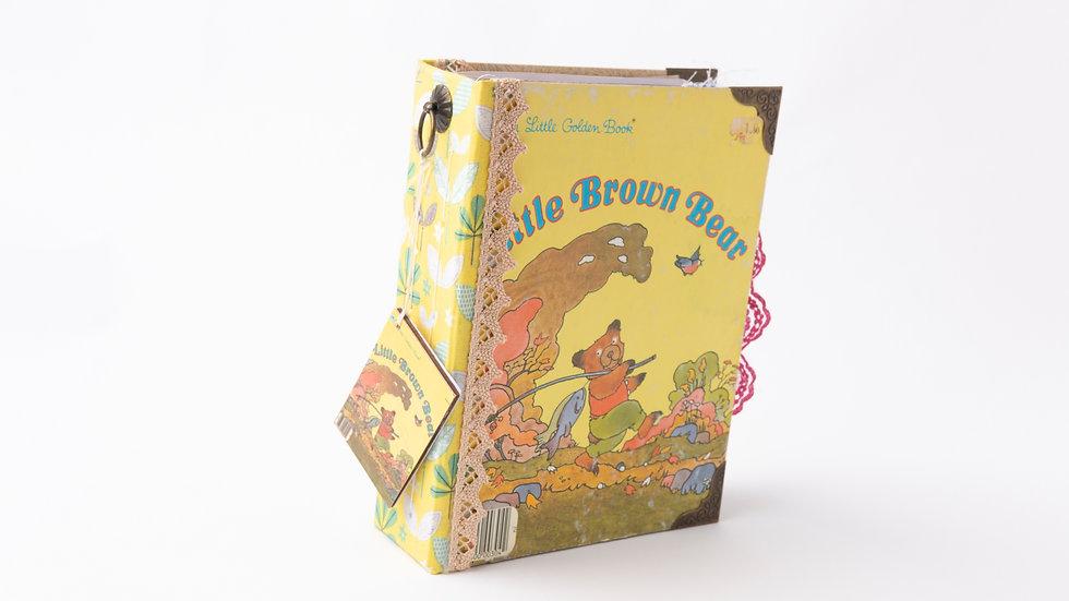 Little brown bear -  Little Golden Book Junk Journal {SMALL}