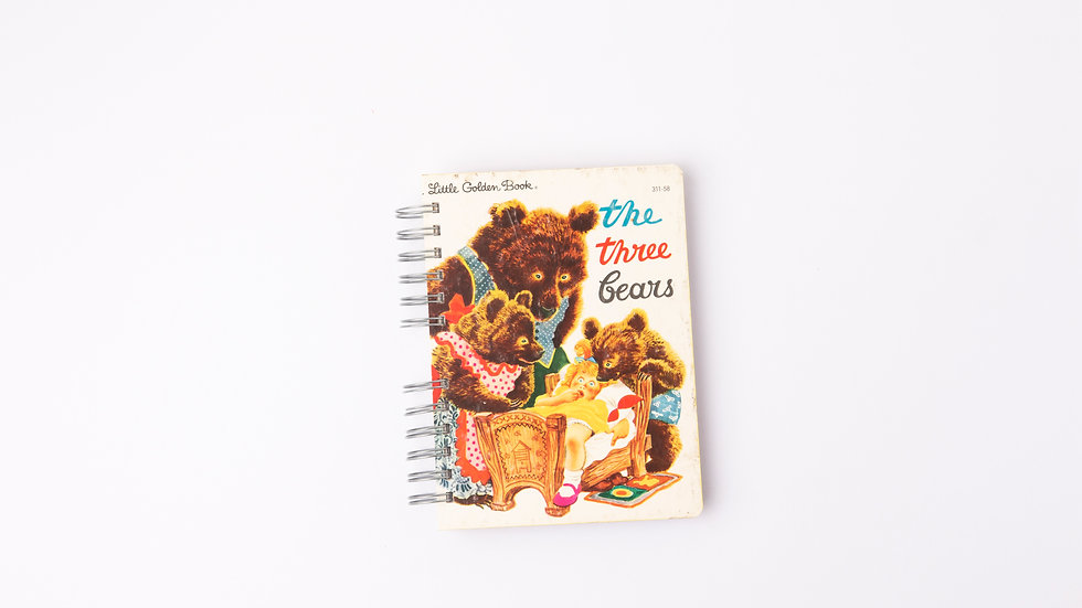 THE THREE BEARS - LGB NOTEBOOK