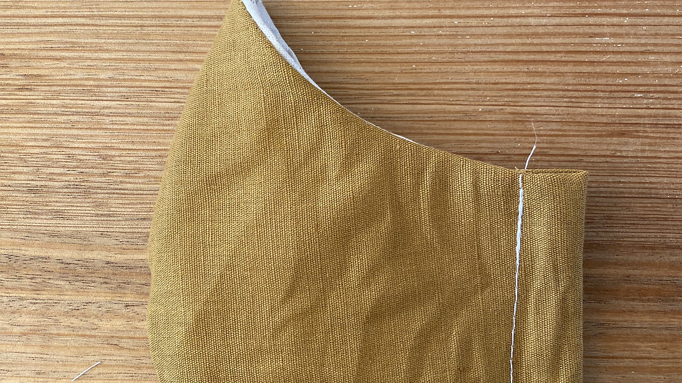 Cotton Mask (mustard linen)