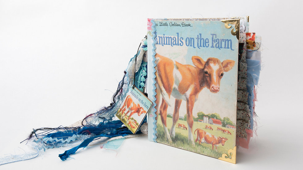 Animals on the Farm Little Golden Book Junk Journal {LARGE}