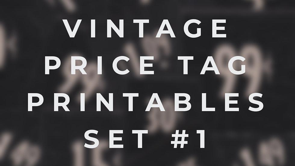 Vintage Price Tag Printables #1