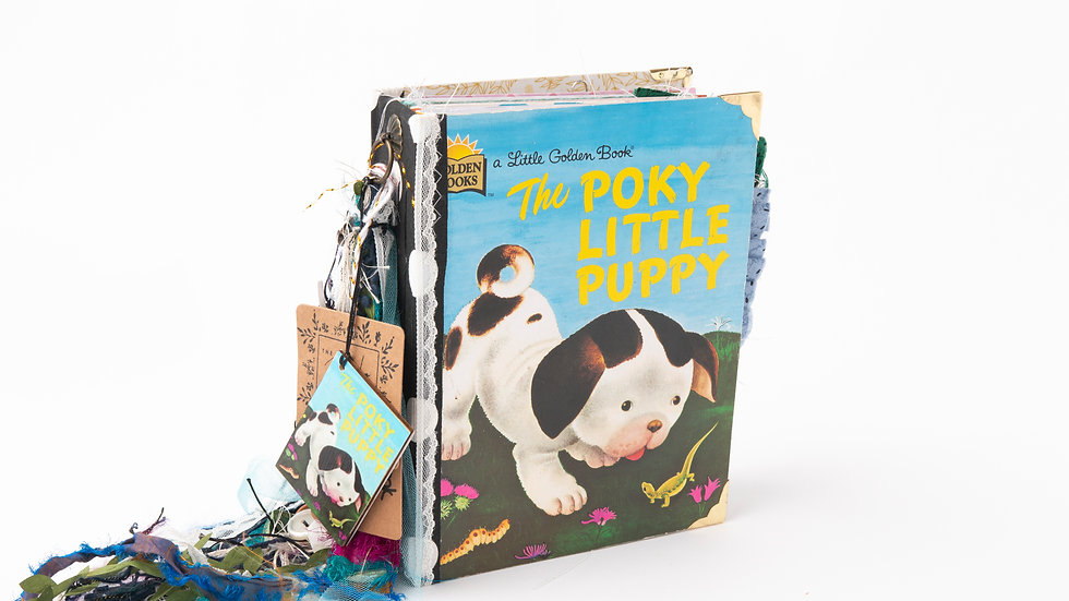 The Poky Little Puppy -  Little Golden Book Junk Journal {LARGE}