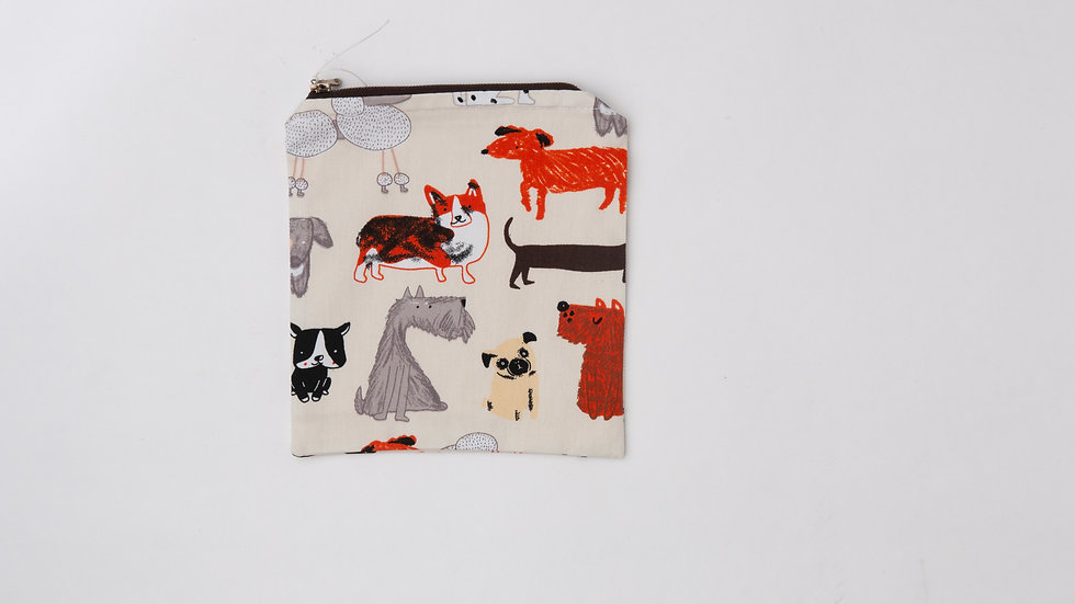 Fabric Pouch - Dog (M)