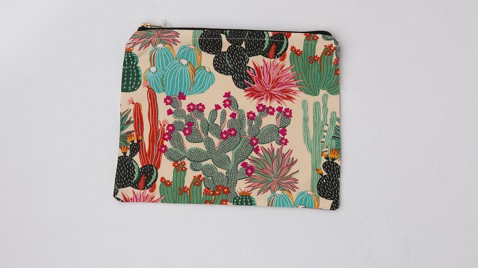 Fabric Pouch - Cactus garden (L)