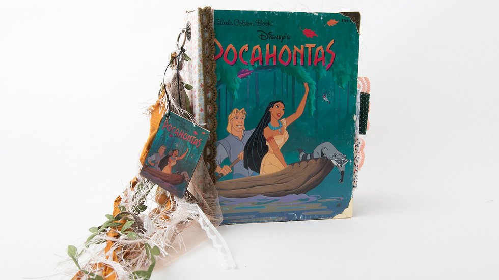 Pocahontas Little Golden Book Junk Journal {LARGE}