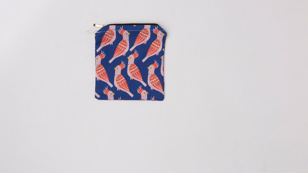 Fabric Pouch - Cockatoo (S)