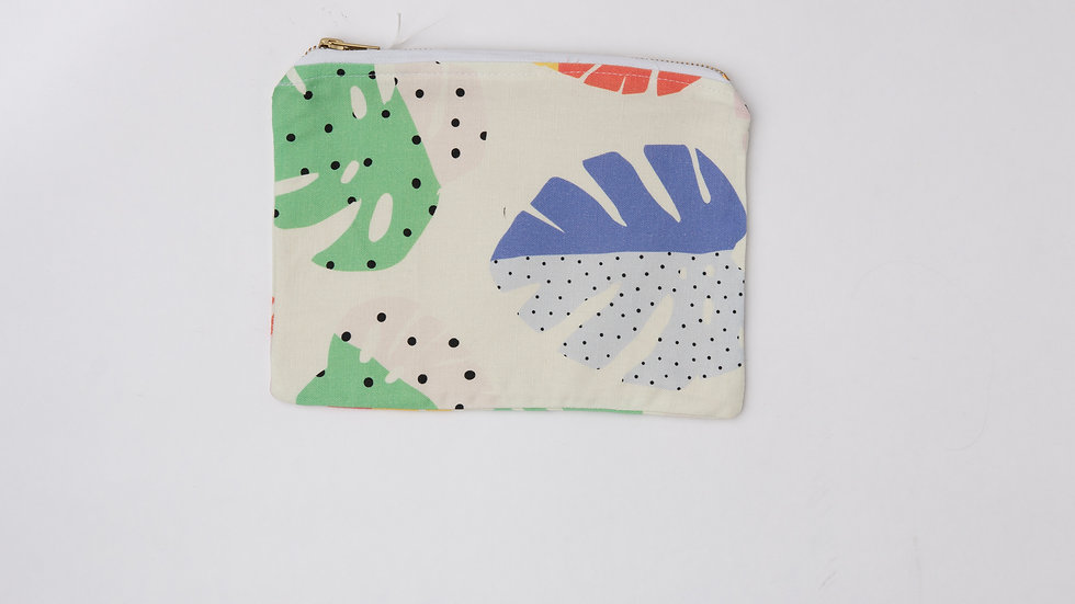 Fabric Pouch - Monstera (L)