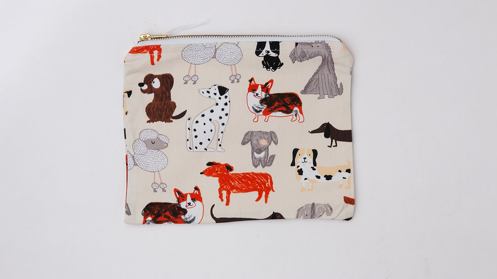 Fabric Pouch - Dogs (L)