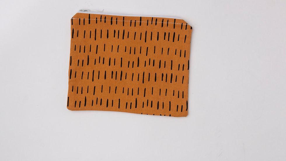 Fabric Pouch - Mustard (L)