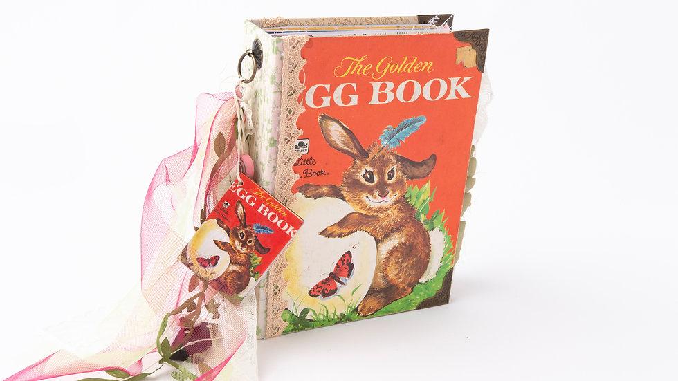 The Golden Egg Book -  Little Golden Book Junk Journal {LARGE}