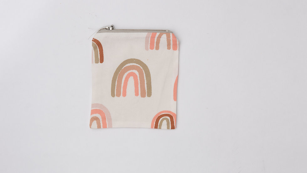 Fabric Pouch - Pastel Rainbows (M)