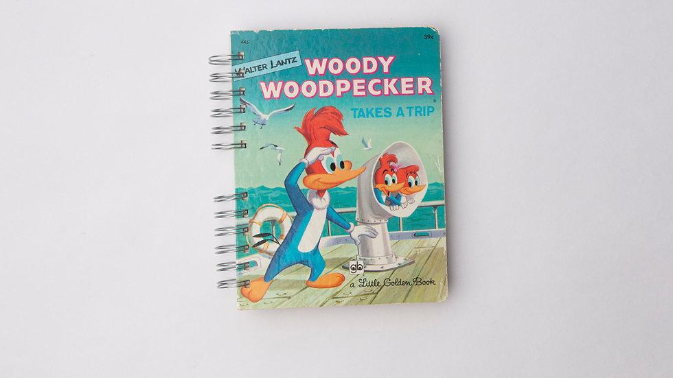 Woody Woodpecker takes a trip  - LGB Notebook Blank
