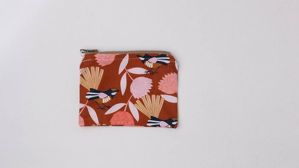 Fabric Pouch - Willie Wagtail (M)