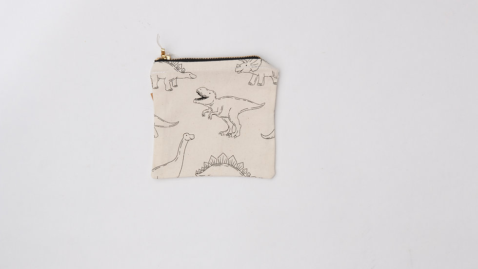 Fabric Pouch - Dino (S)