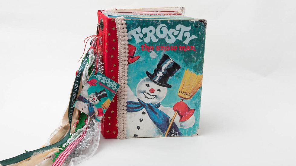 Frosty the snow man Little Golden Book Junk Journal {LARGE}