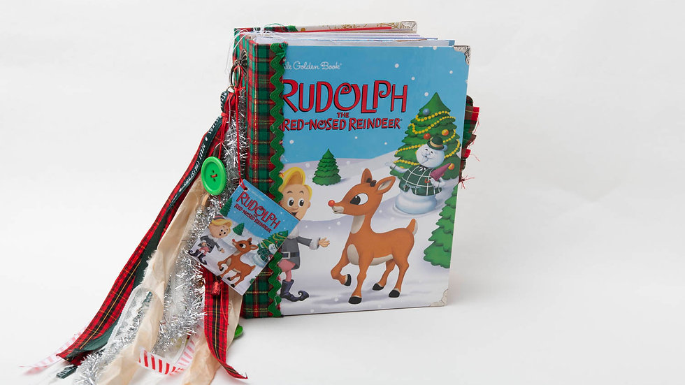 Rudolph The Red Nosed Reindeer Little Golden Book Junk Journal {LARGE}