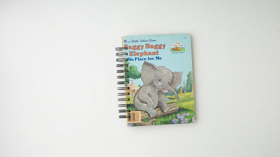 Saggy Baggy Elephant No Place For Me - LGB NOTEBOOK (LINED)