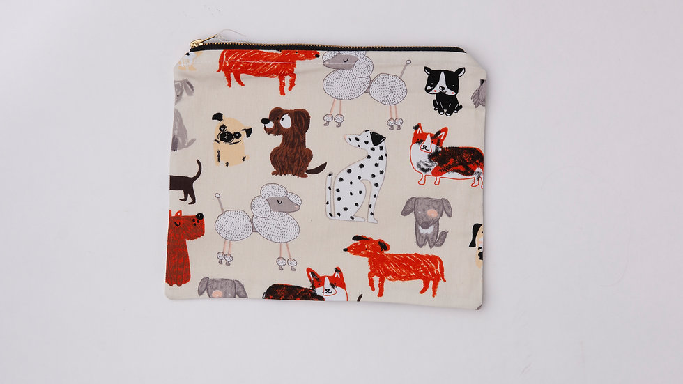 Fabric Pouch - Dog (L)