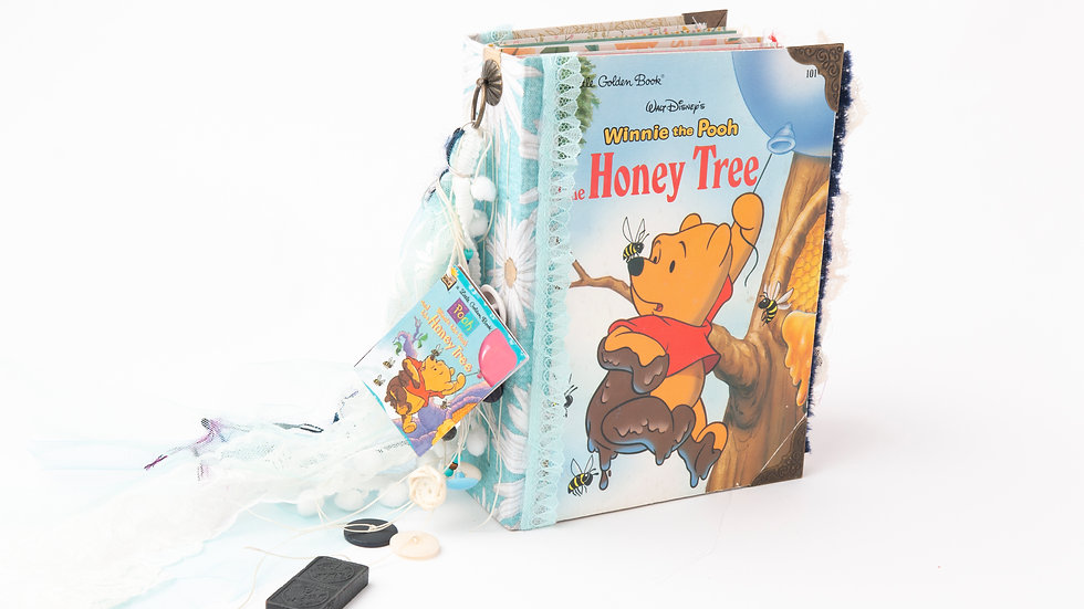 Winnie the Pooh the honey tree -  Little Golden Book Junk Journal {LARGE}