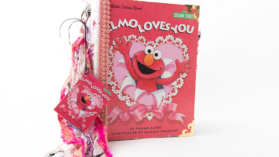 Elmo Loves You Little Golden Book Junk Journal {LARGE}