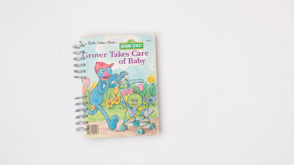GROVER TAKES CARE OF BABY - LGB NOTEBOOK