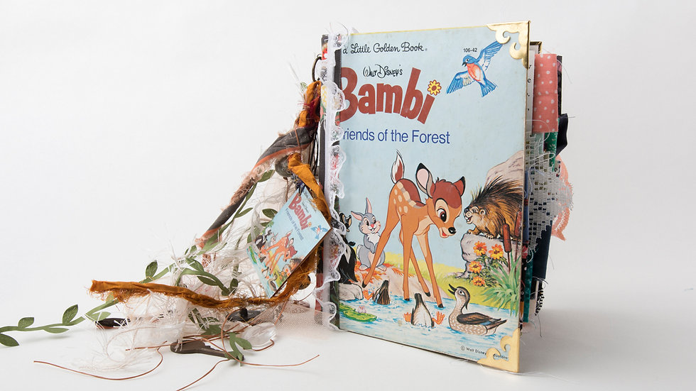 Bambi Friends of The Forest Little Golden Book Junk Journal {LARGE}