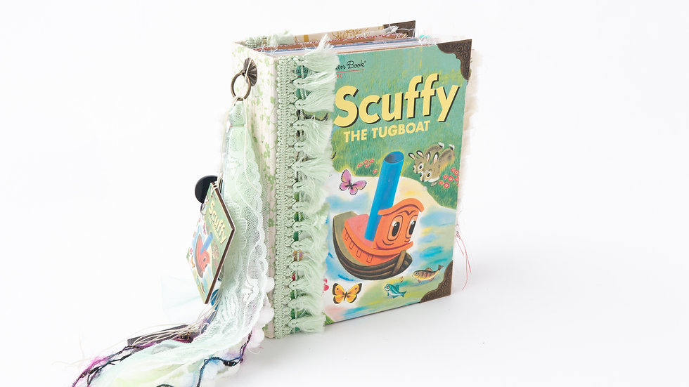 Scuffy the Tugboat -  Little Golden Book Junk Journal {LARGE}