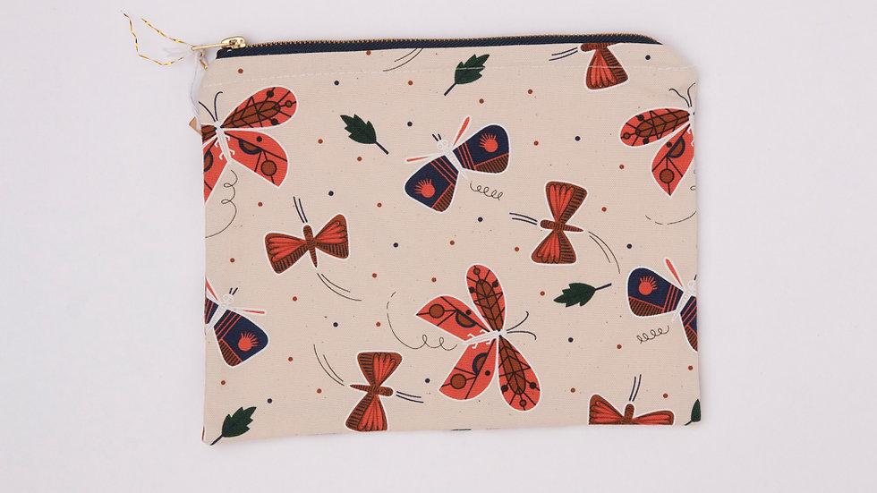 Fabric Pouch - Moths (L)