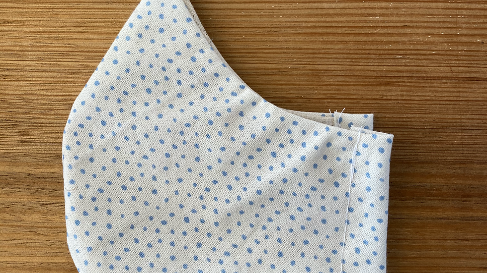 Cotton Mask (blue spots)