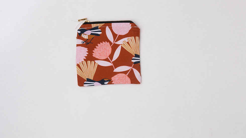 Fabric Pouch - Willie Wagtail (S)