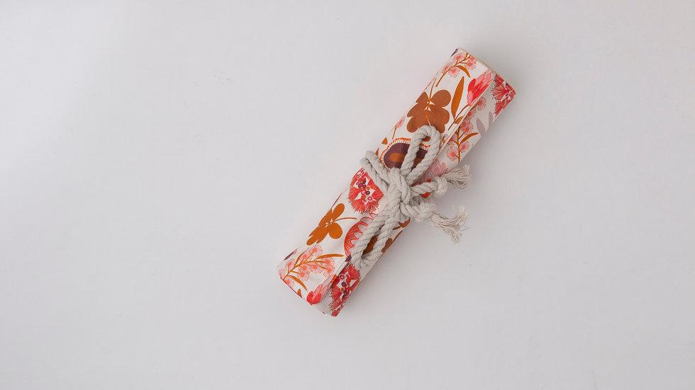 Pencil Roll - Orange Natives