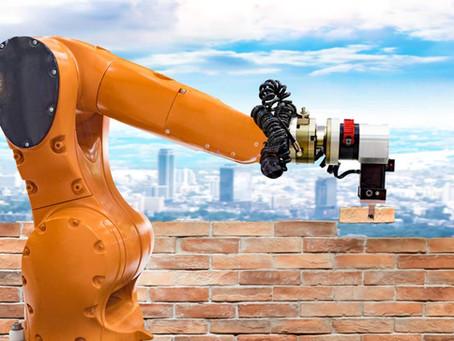 A construção civil ganha um novo reforço nos canteiros de obras: os robôs