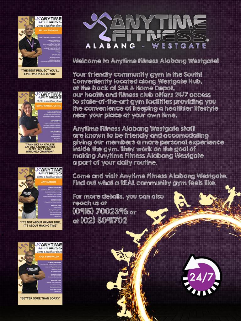Anytime Fitness Gyms Muntinlupa Metro Manila Fitness