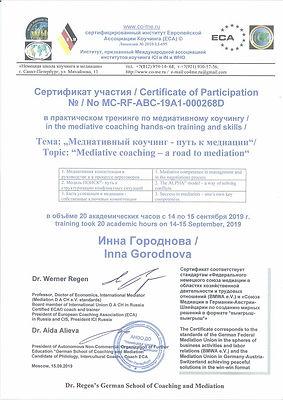 Медитативный коучинг Инесса Боровская