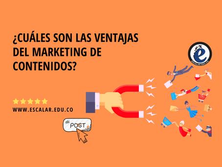 ¿Cuáles son las ventajas del marketing de contenidos?