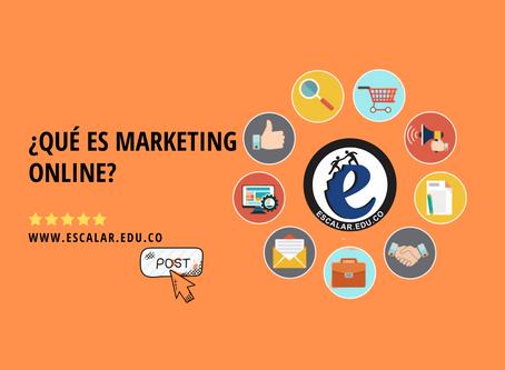 ¿Qué es marketing online?.
