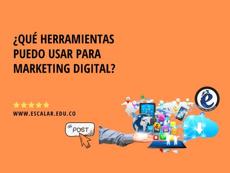 ¿Qué herramientas puedo usar para marketing digital?