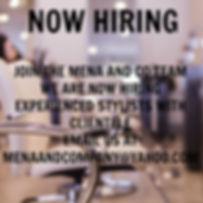 Hiring Modesto Jobs Mena and Co Salon Spa Aveda