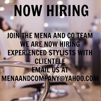 Hiring Modesto Jobs Mena and Co Salon Spa Aveda