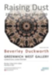'Raising Dust' exhibition flyer (website