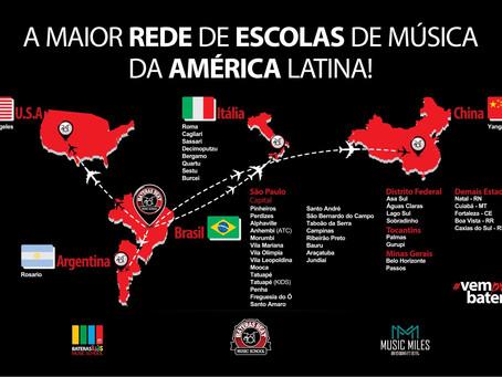 Bateras Beat Music School. A maior rede de Escolas de Música da América Latina!