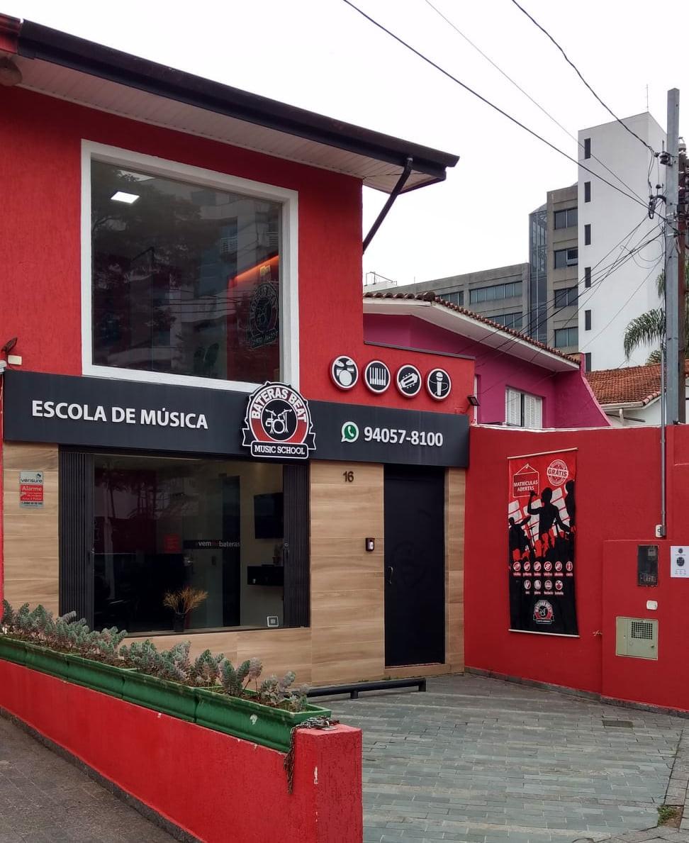 Escola de Música Bateras Beat Santo Amaro SP Zona Sul