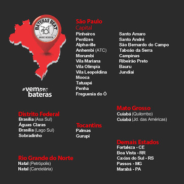 Bateras Beat Music School. A rede de de Escolas de Música que mais cresce no Brasil!