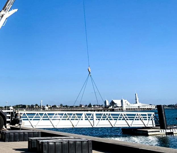 Associated Rigging Lifting Pontoon Bridge