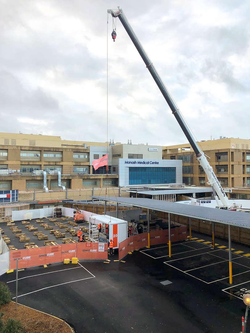 Associated Rigging - COVID-19 Unit build - Monash Medical Centre