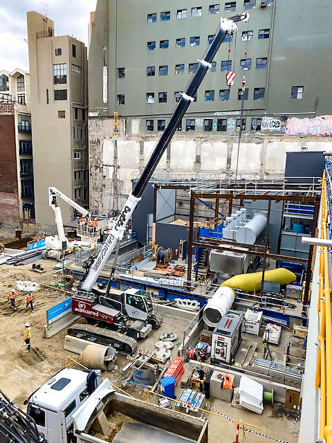 Associated Rigging Crane Hire - Commercial projects