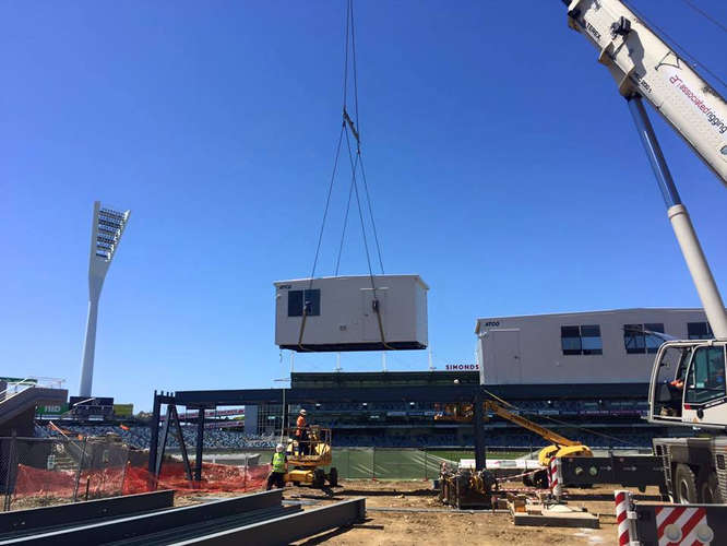 Associated Rigging Crane Hire - Skilled Stadium