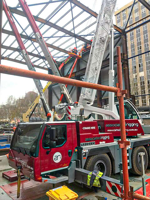 Associated Rigging Crane Hire - Steel Installation