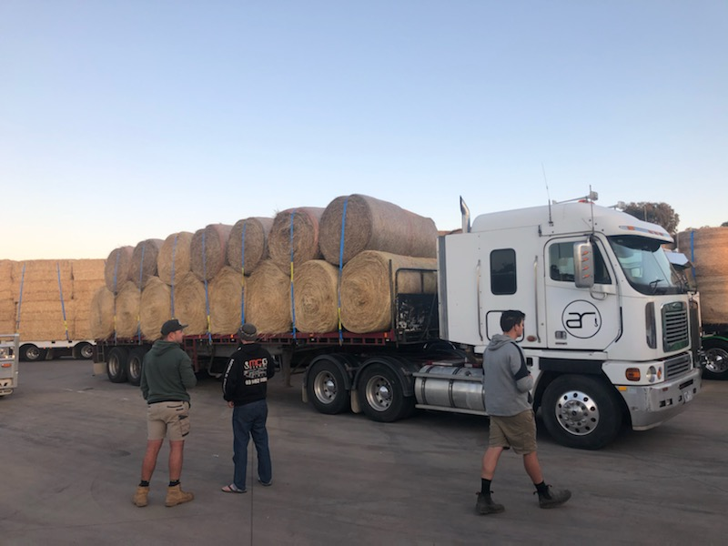 Associated Rigging taking part in Victorian Hay Run